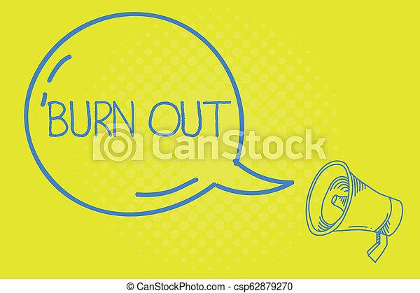 concetto, parola, affari, testo, bruciatura, scrittura, cronico, fatica, fuori., emotivo, sentimento, esaurimento, fisico - csp62879270