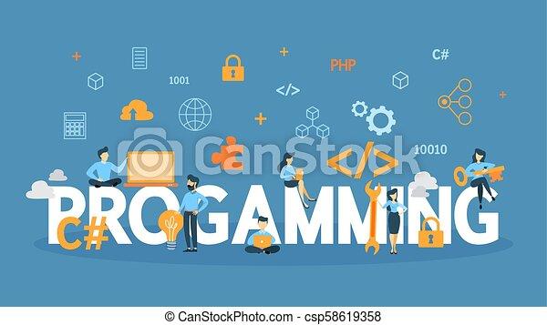 concetto, programmazione, illustration. - csp58619358