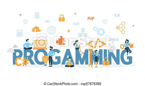 concetto, programmazione, illustration. - csp57876389