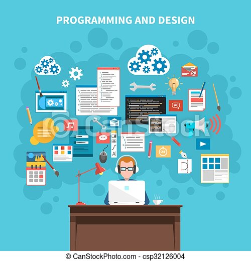 concetto, programmazione, illustrazione - csp32126004
