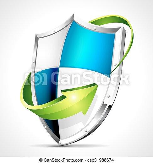 concetto, scudo, protezione - csp31988674