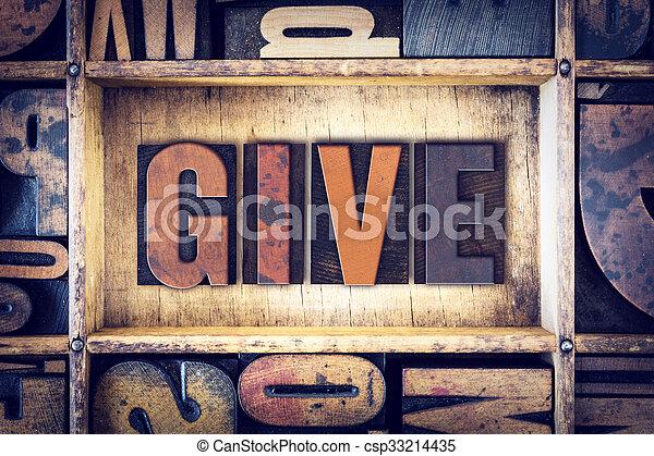 concetto, tipo, letterpress, dare - csp33214435
