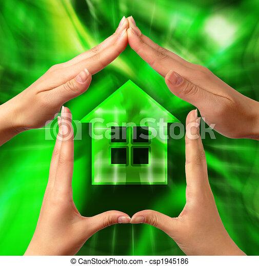 concettuale, casa, simbolo - csp1945186