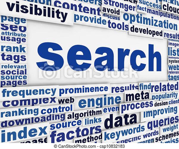 concettuale, ricerca, disegno, messaggio - csp10832183