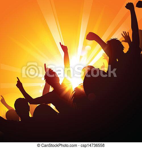 La multitud en un concierto - csp14736558