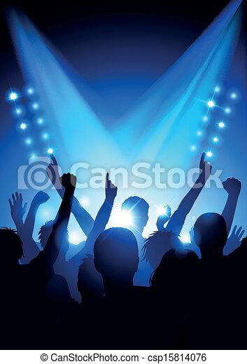 La multitud en concierto - csp15814076
