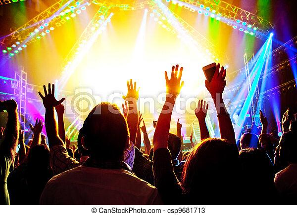 Un concierto de rock - csp9681713