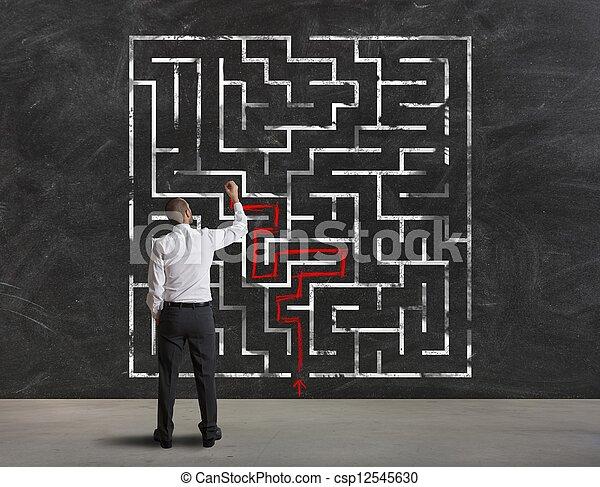 conclusion, labyrinthe, solution - csp12545630