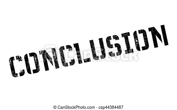 conclusion rubber stamp grunge design with dust scratches rh canstockphoto com Summary Clip Art Question Clip Art