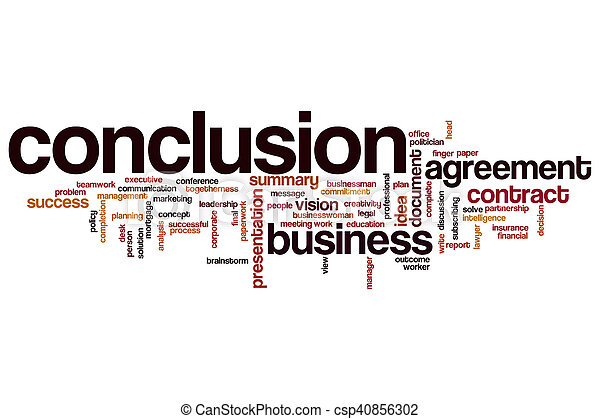conclusion word cloud concept