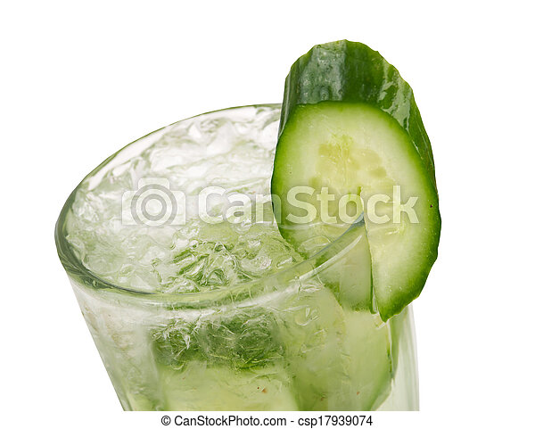 concombre, closeup, cocktail - csp17939074