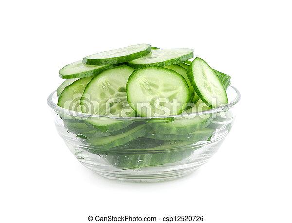 concombre, salade, tranches - csp12520726