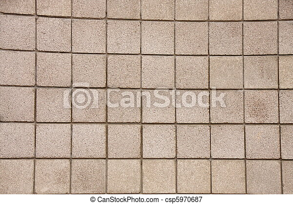 Concrete Block Wall - csp5970687
