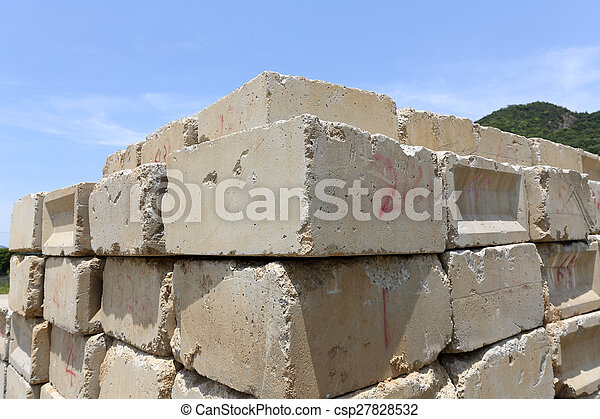 concrete blocks - csp27828532