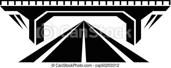 Concrete bridge icon, simple black style. Concrete bridge ...