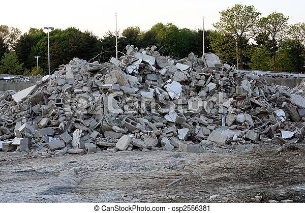 Concrete Debris - csp2556381
