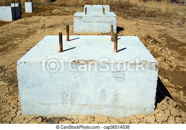 Concrete Foundation Blocks Photo - csp36514538