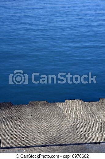 Concrete Lake Pier - csp16970602