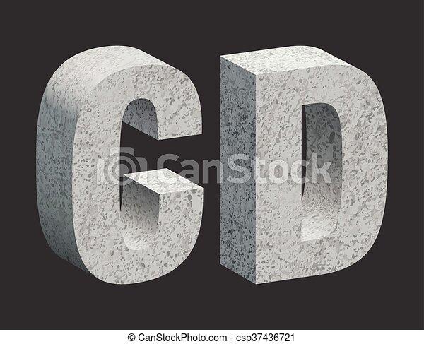 Concrete letters - csp37436721