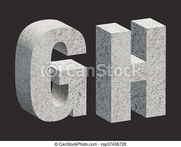 Concrete letters - csp37436728