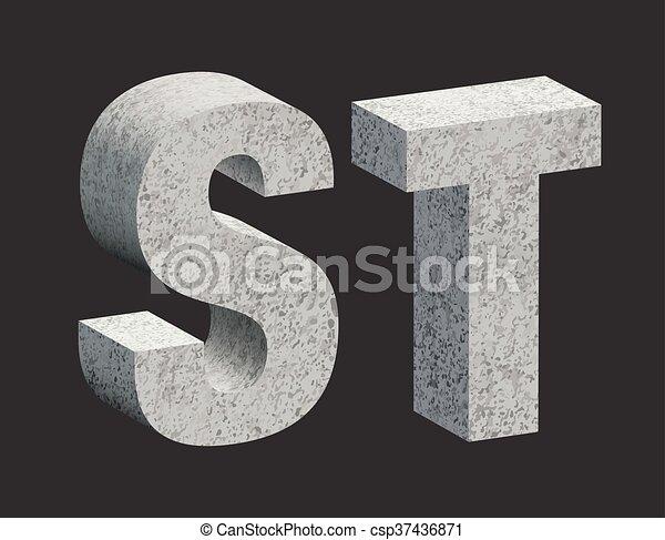 Concrete letters - csp37436871