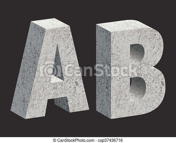 Concrete letters - csp37436716