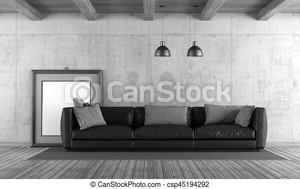 Brilliant Concrete Living Room With Sofa Machost Co Dining Chair Design Ideas Machostcouk