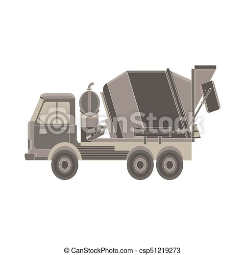 Truck With Special Equipment Isolated On White Background Construction Machinery