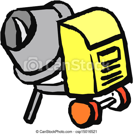 concrete mixer isolated on the white background rh canstockphoto ca concrete block clipart concrete worker clipart