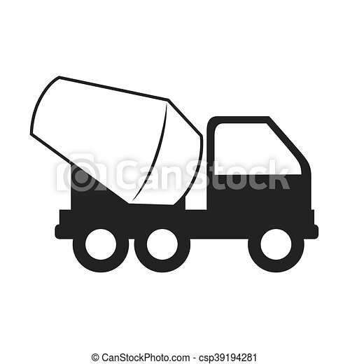 concrete mixer truck cement icon vector graphic concrete vector rh canstockphoto co nz concrete worker clipart concrete clipart free