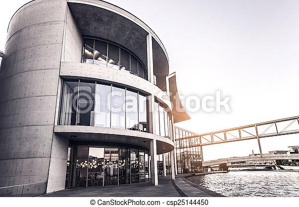 concrete office building - csp25144450