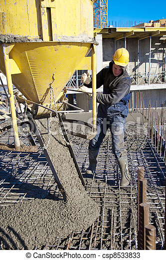 Concrete pouring works - csp8533833