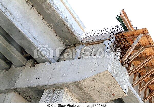 Concrete reinforced bridge construction formwork - csp5744752