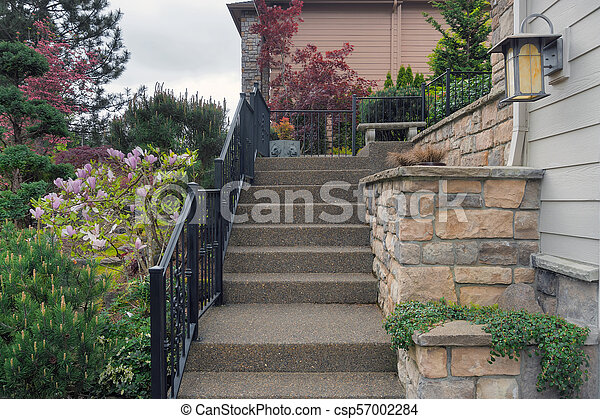 Concrete Stair Steps To House Entrance Concrete Stair Steps With