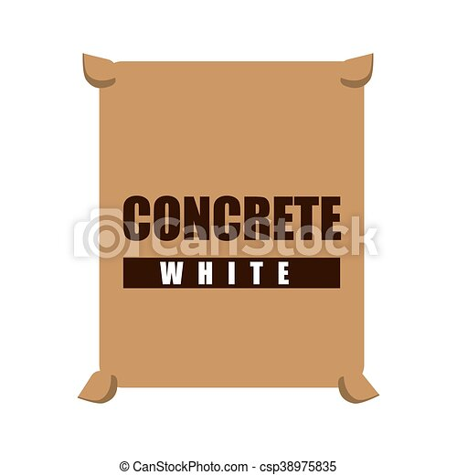 concrete white bag icon - csp38975835