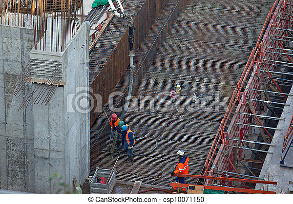 Concreting work - csp10071150
