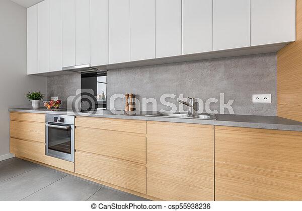 concreto, encimera, cocina