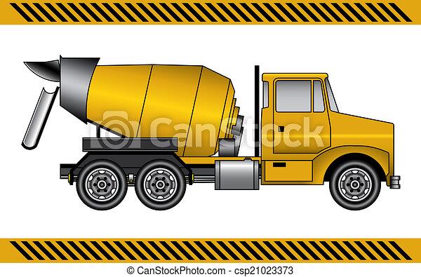 concreto, maquinaria construção, misturador, equipamento - csp21023373