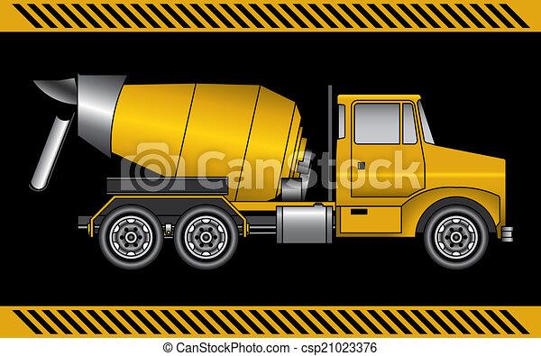 concreto, maquinaria construção, misturador, equipamento - csp21023376