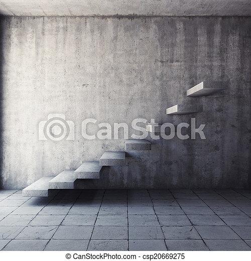 Escalera de concreto abstracta - csp20669275