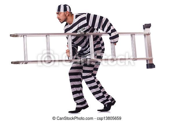 condenado, listrado, criminal, uniforme - csp13805659