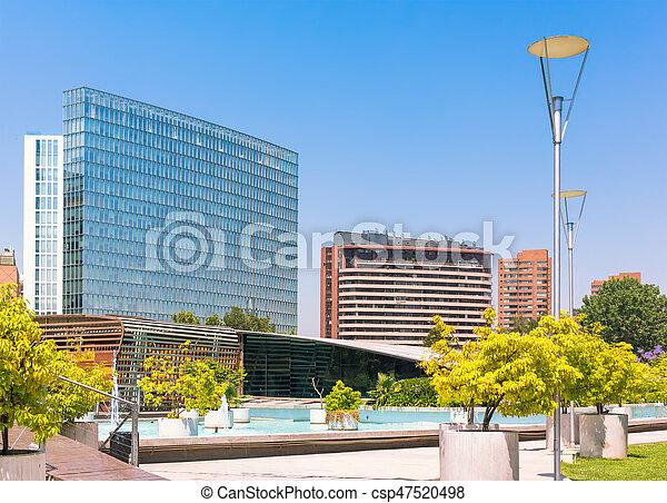 Barrio Nueva las condes en Santiago, Chile - csp47520498