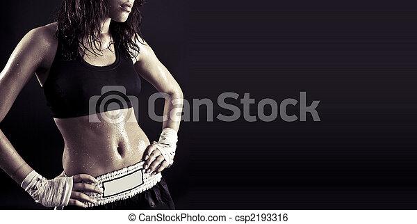 condicão física, bonito, corporal - csp2193316