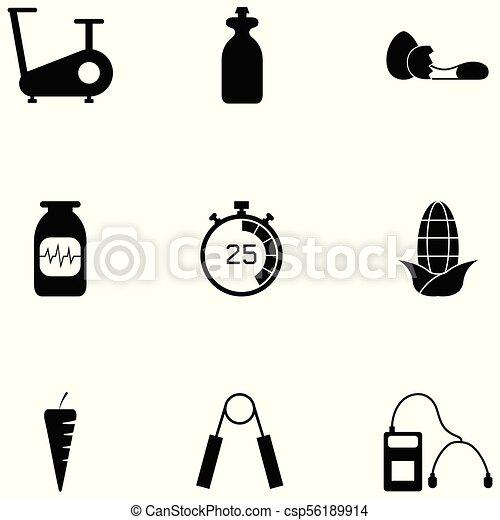 condicão física, jogo, ícone - csp56189914