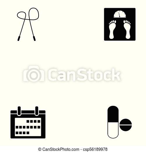 condicão física, jogo, ícone - csp56189978