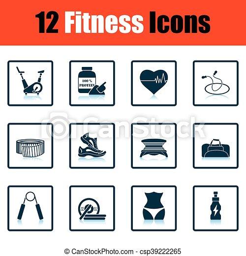 condicão física, jogo, ícone - csp39222265