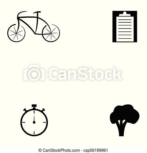 condicão física, jogo, ícone - csp56189961