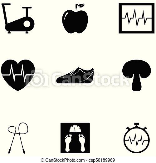 condicão física, jogo, ícone - csp56189969