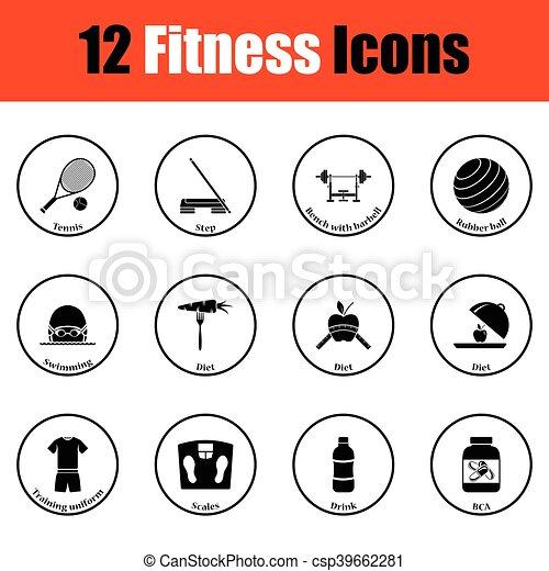 condicão física, jogo, ícone - csp39662281
