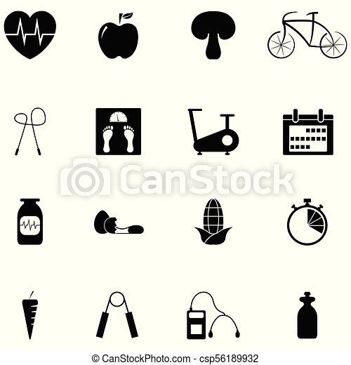 condicão física, jogo, ícone - csp56189932